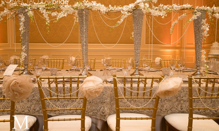 Beautiful Decor by Glitterati Events for Spectacular Bride Magazine