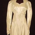 1940's War Bride Wedding Gown
