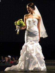 bride in bridal fashion show