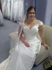 This bridal gown was almost the one!