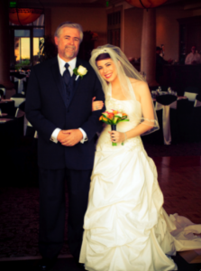 Ally and Dad Photo by Jamison Frady 223x300 Real Las Vegas Weddings: I found my wedding necessities at Bridal Spectacular!