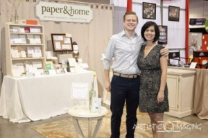 Paper and Home vendor booth 2011 photo by Adam Frazier 300x199 Las Vegas stationery studio, Paper and Home, creates polished wedding invitations for eco friendly brides