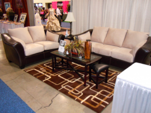 RC WIlley bridal show vendor booth furniture  2011 300x224 Planning a Las Vegas wedding registry? Here's what to choose!