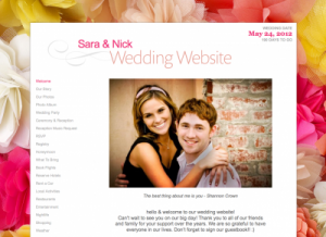 WeddingWire.com _ personal wedding website demo for Sara and Nick