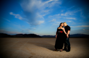dry lake bed engagement shoot
