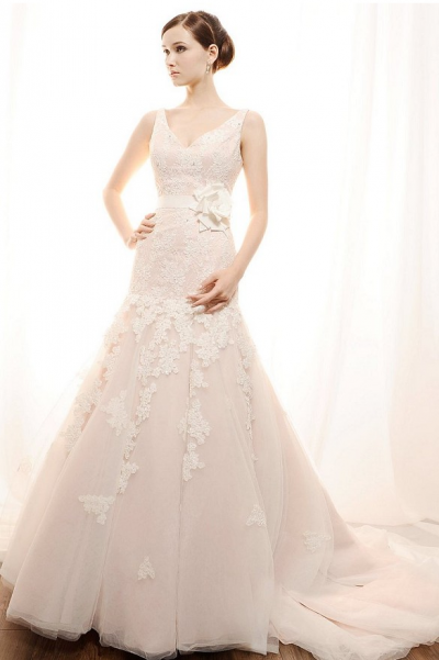 Blush Or Ivory Wedding Dresses : Blush bridal gowns now available at las vegas wedding dress stores