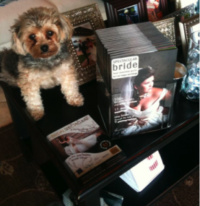 magazine display at Couture Bride store