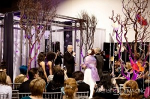 Rob and stacey tie the knot at bridal spectacular bridal for Las vegas mock wedding