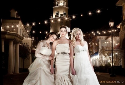 three brides at night