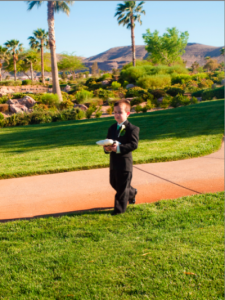 Ring Bearer walking