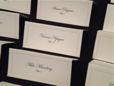 Creative place card designs and escort card ideas for las vegas tented escort cards junglespirit Images
