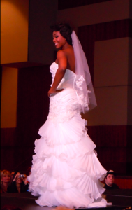 bride on fashion show catwalk