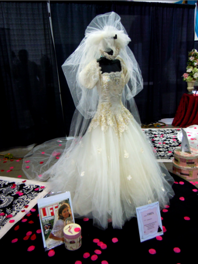 vintage bridal gown from 1980s