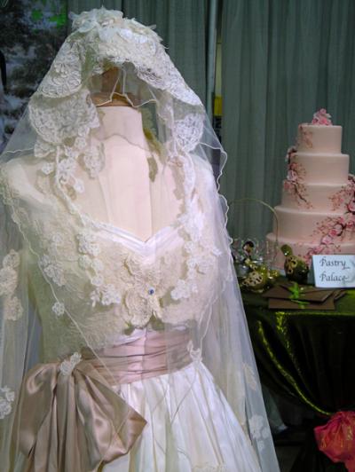 Priscilla of Boston wedding dress display