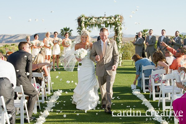 Outdoor wedding at Bear's Best Las Vegas. Photo by Cardin Creative