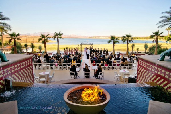 Outdoor wedding at the Westin Lake Las Vegas Resort & Spa. Photo by Exceed Photography.