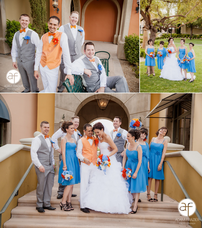 Blue and Orange Wedding Party  AKW_17