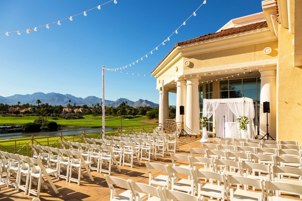 Ceremony at Canyon Gate Country Club.