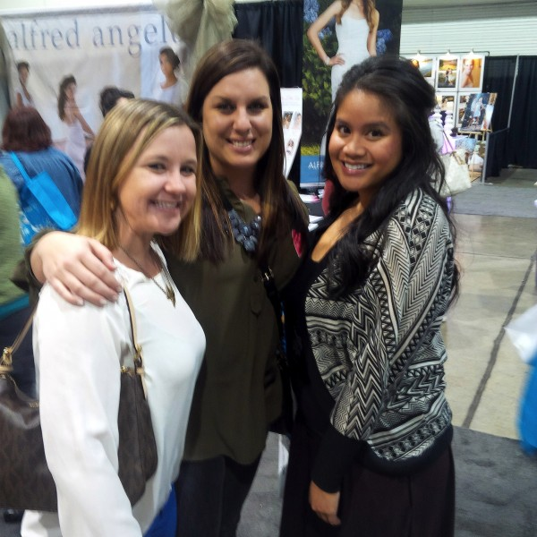 Lindsey with Coworkers 600x600 More Spectacular Highlights from the 2014 Winter Bridal Show