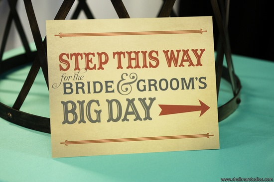 Circus Themed Wedding Sign from Paper & Home