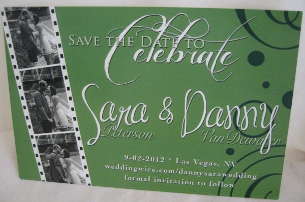 Save-the-date from First Impressions Invitations