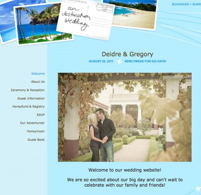 Wedding Website Created on TheKnot.com