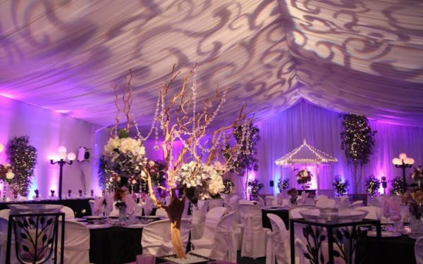 Ballroom reception at A Secret Garden.