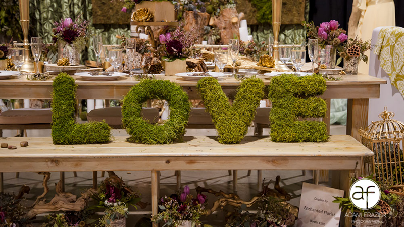 Enchanting Wedding FLorals By Enchanted Florist at Bridal Spectacular