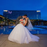 "Kandis & Jon Say ""I Do"" With a Chic Poolside Wedding at The M Resort"