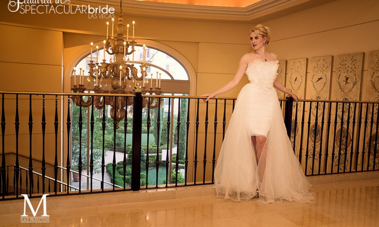 Hilton Lake Las Vegas Spectacular Bride Photo Shoot by M Place Productions