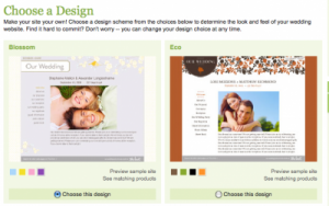 TheKnot.com _ layout options for a wedding website