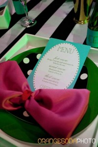 Kate Spade reception table decor by Scheme Events