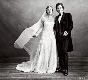 Lauren Bush And David In Wedding Portrait