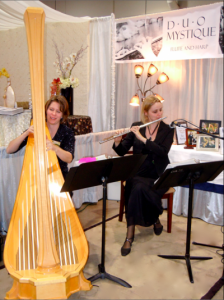 Duo Mystique plays at bridal show