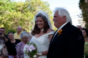 Bride Laura and Dad