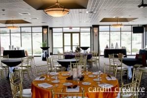 Gold Chiavari Chairs With Elegant Lighting Creates A Romantic Ambiance