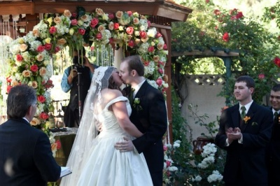 Backyard Ceremony Roses by Naakiti Floral