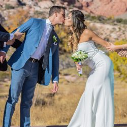 Anita and Max Become Husband & Wife With an Intimate Wedding at Red Rock Canyon