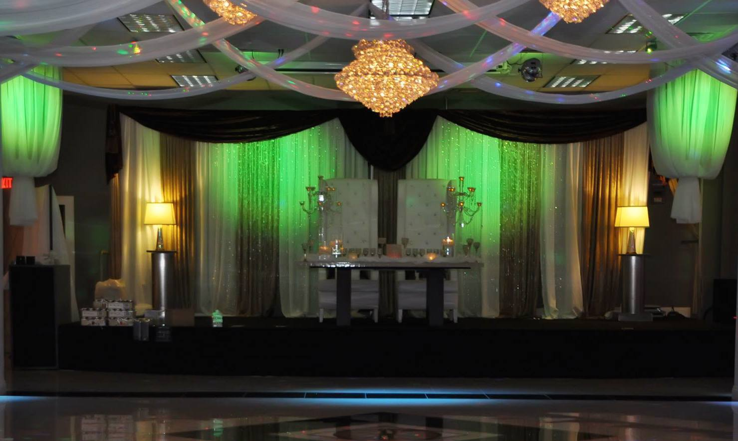 Bridal Spectacular Spotlight Chandelier Banquet Hall