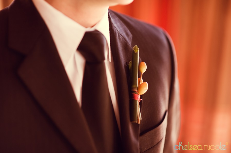 Groom's Boutonniere with Twigs