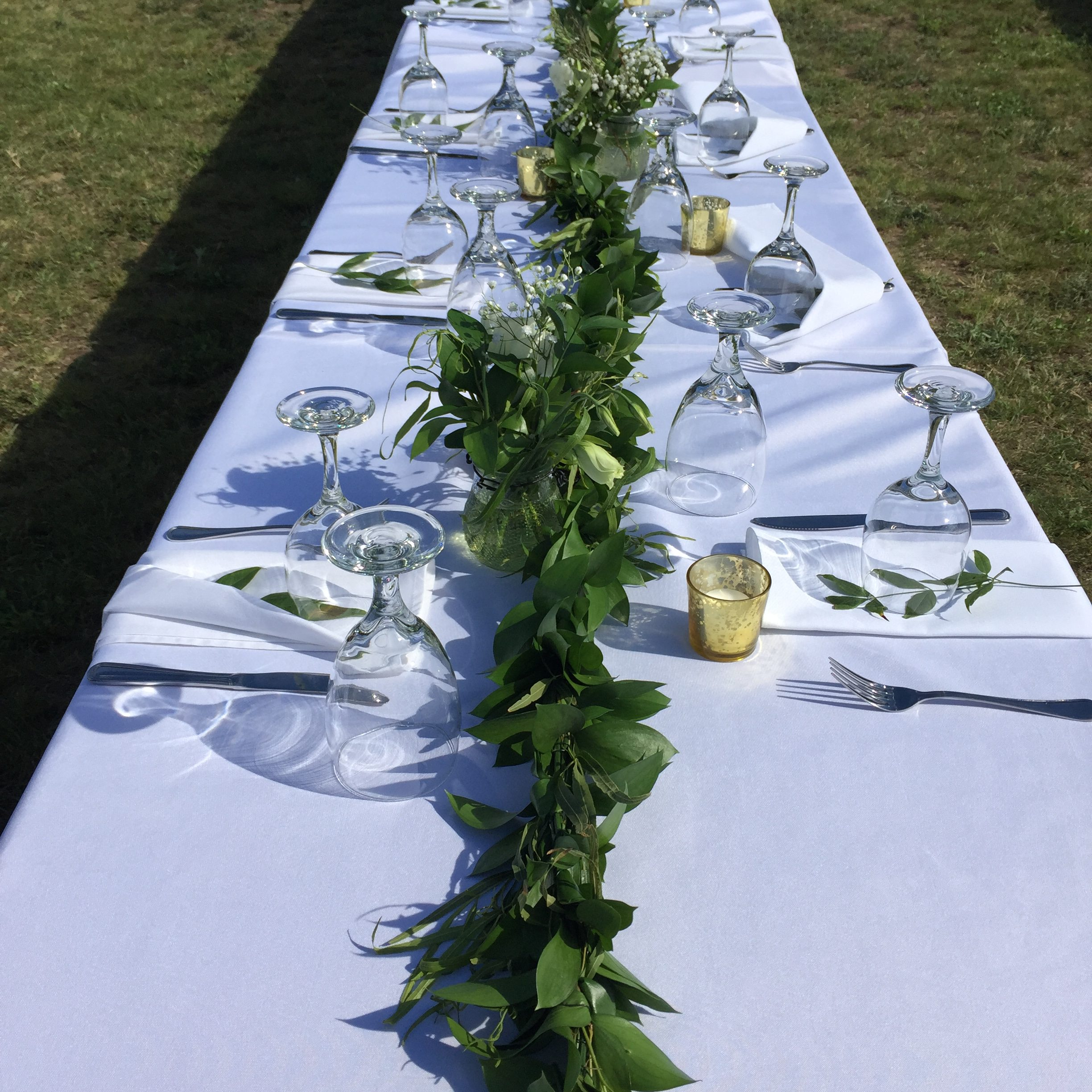 Green Garland for Wedding Table