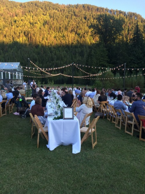 Montana Bistro Lighting Destination Wedding