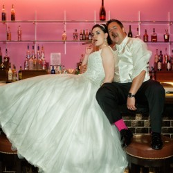 M Place Productions Captures Janise and Justin's Vintage Vegas Wedding at Downtown Grand