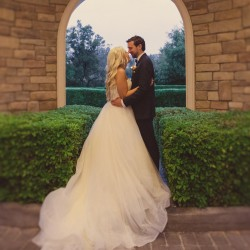 "Marisa & Taylor Say ""I Do"" with a Misty April Wedding Captured by Mindy Bean Photography"