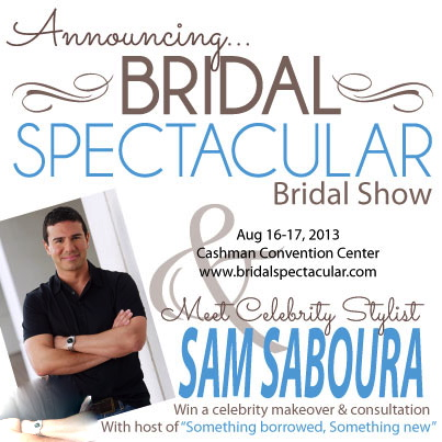 Sam Saboura to Appear at Bridal Spectacular bridal show